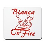 Bianca On Fire Mousepad