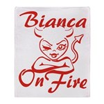 Bianca On Fire Throw Blanket