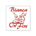 Bianca On Fire Square Sticker 3