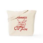 Bonnie On Fire Tote Bag