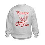 Bonnie On Fire Kids Sweatshirt