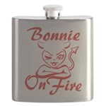 Bonnie On Fire Flask