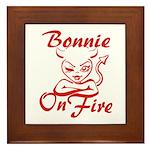 Bonnie On Fire Framed Tile