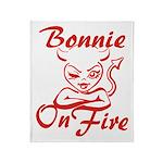 Bonnie On Fire Throw Blanket