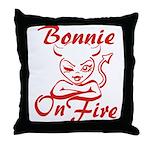 Bonnie On Fire Throw Pillow