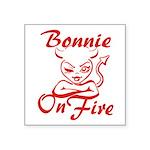 Bonnie On Fire Square Sticker 3