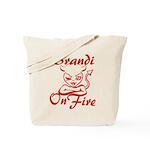Brandi On Fire Tote Bag