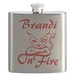 Brandi On Fire Flask