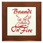 Brandi On Fire Framed Tile
