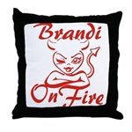 Brandi On Fire Throw Pillow