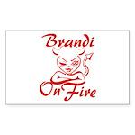 Brandi On Fire Sticker (Rectangle)