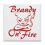 Brandy On Fire Tile Coaster