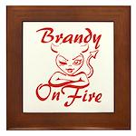 Brandy On Fire Framed Tile