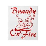 Brandy On Fire Throw Blanket