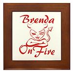 Brenda On Fire Framed Tile