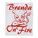 Brenda On Fire Throw Blanket