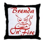 Brenda On Fire Throw Pillow