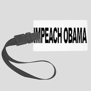 impeachobamalong Large Luggage Tag