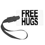 freehugs-blk Large Luggage Tag