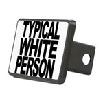 typicalwhitepersonblk Rectangular Hitch Cover