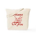 Briana On Fire Tote Bag