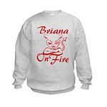 Briana On Fire Kids Sweatshirt
