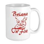 Briana On Fire Large Mug