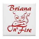 Briana On Fire Tile Coaster