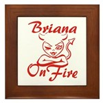 Briana On Fire Framed Tile