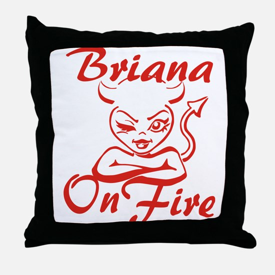 Briana On Fire Throw Pillow