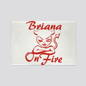 Briana On Fire Rectangle Magnet
