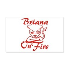 Briana On Fire Wall Decal