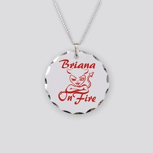 Briana On Fire Necklace Circle Charm