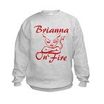 Brianna On Fire Kids Sweatshirt