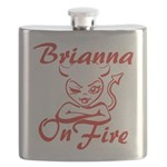 Brianna On Fire Flask