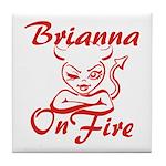 Brianna On Fire Tile Coaster