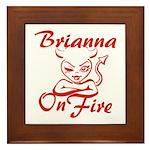 Brianna On Fire Framed Tile