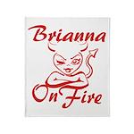 Brianna On Fire Throw Blanket