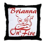 Brianna On Fire Throw Pillow