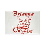 Brianna On Fire Rectangle Magnet
