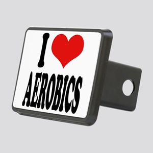iloveaerobicsblk Rectangular Hitch Cover