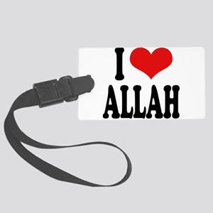 iloveallahblk Large Luggage Tag