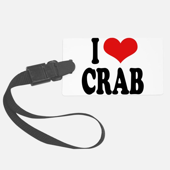 ilovecrabblk.png Luggage Tag