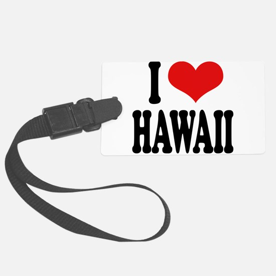 ilovehawaiiblk.png Luggage Tag