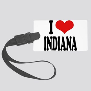 iloveindianablk Large Luggage Tag