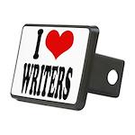 ilovewritersblk Rectangular Hitch Cover