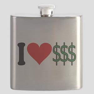 4-3-ilovemoneyblk Flask