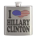ilovehillaryclintonblk Flask