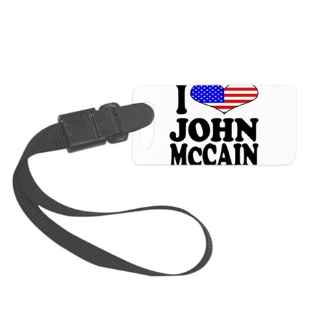 ilovejohnmccainblk.png Small Luggage Tag