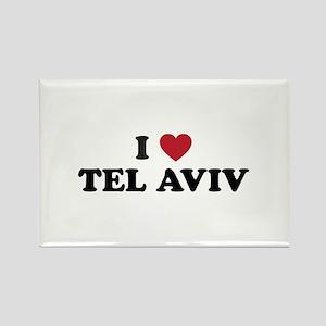 I Love Tel Aviv Rectangle Magnet